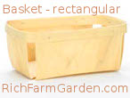 Fruit and Vegetable Basket rectangular